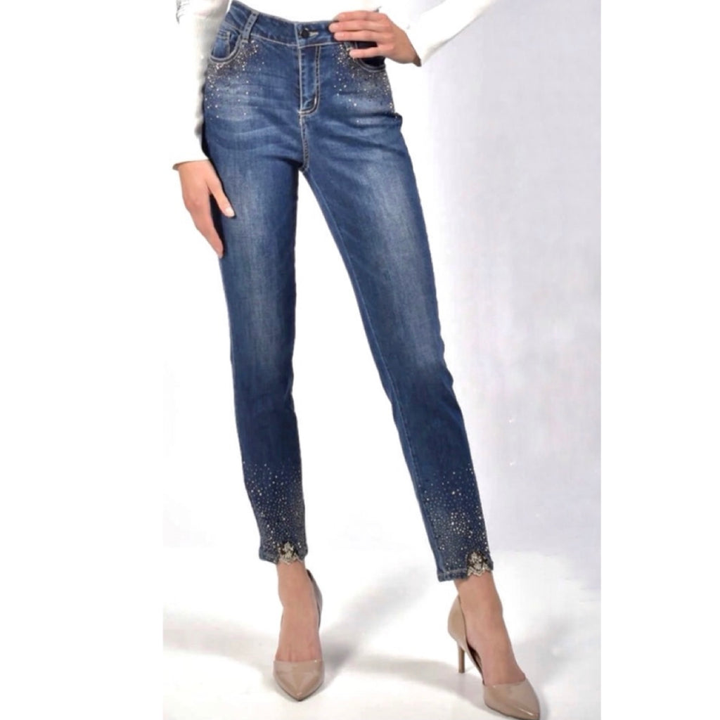 Frank Lyman Studded Denim