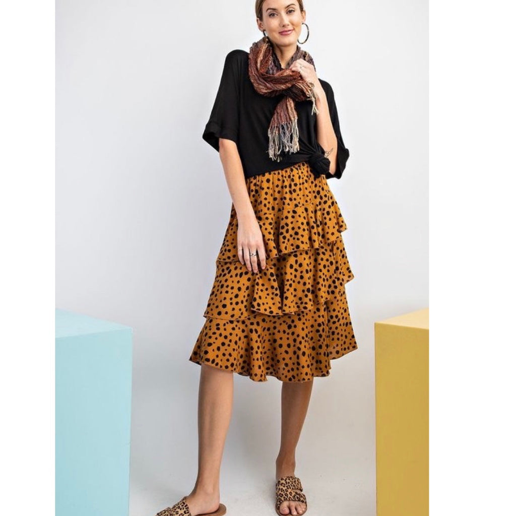 Brown Polka Dot Skirt