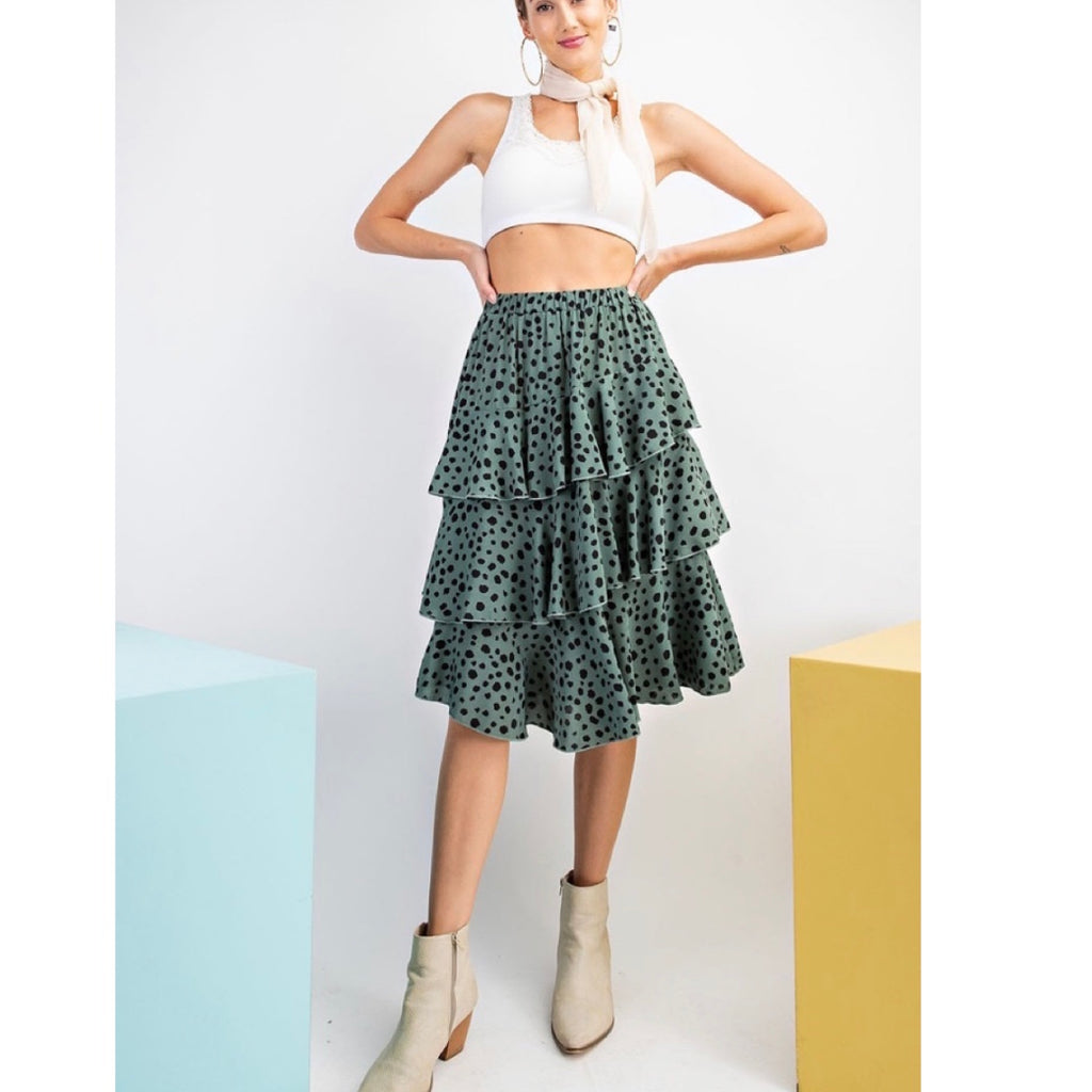 Green Polka Dot Skirt
