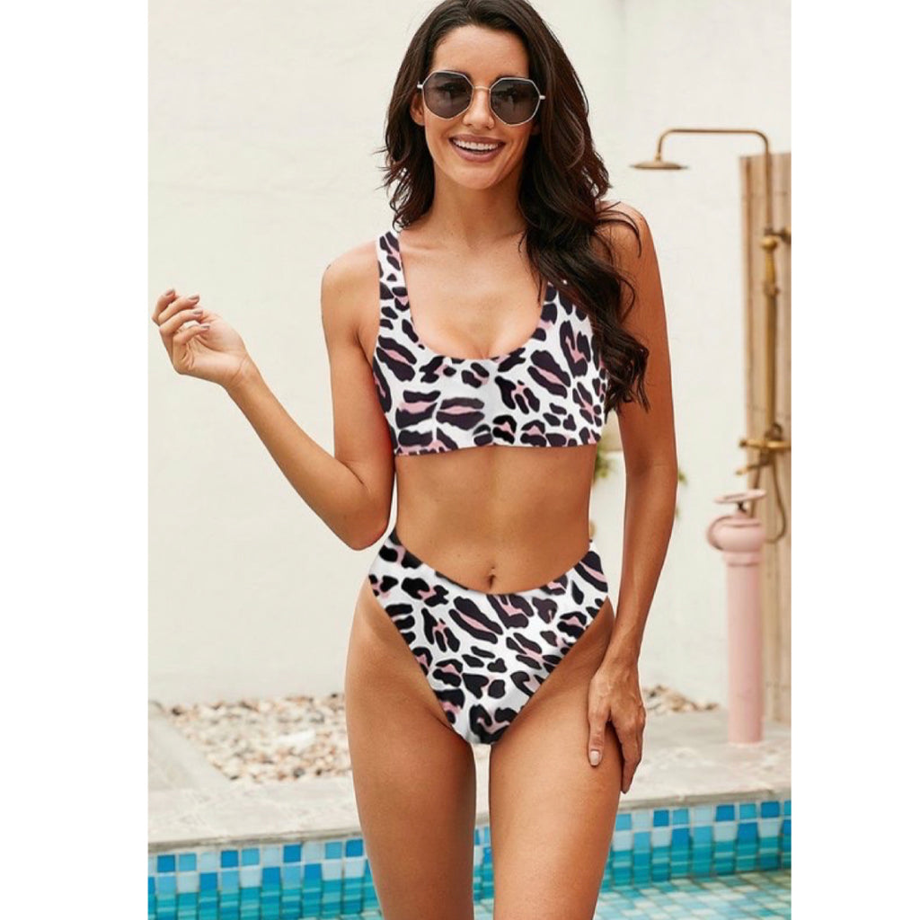 Cheetah Two Piece Swim Suit