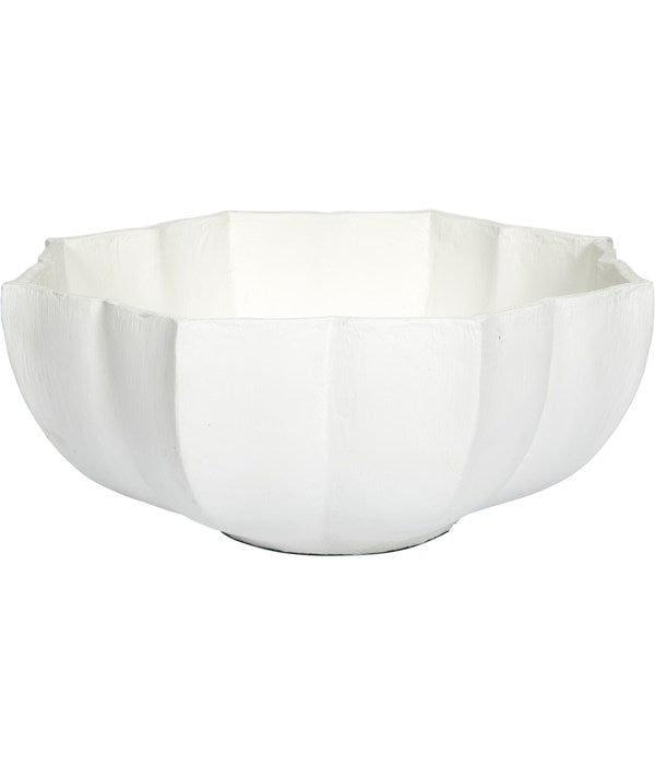 WHITE GESSO ANNA MARIA DECORATIVE BOWL