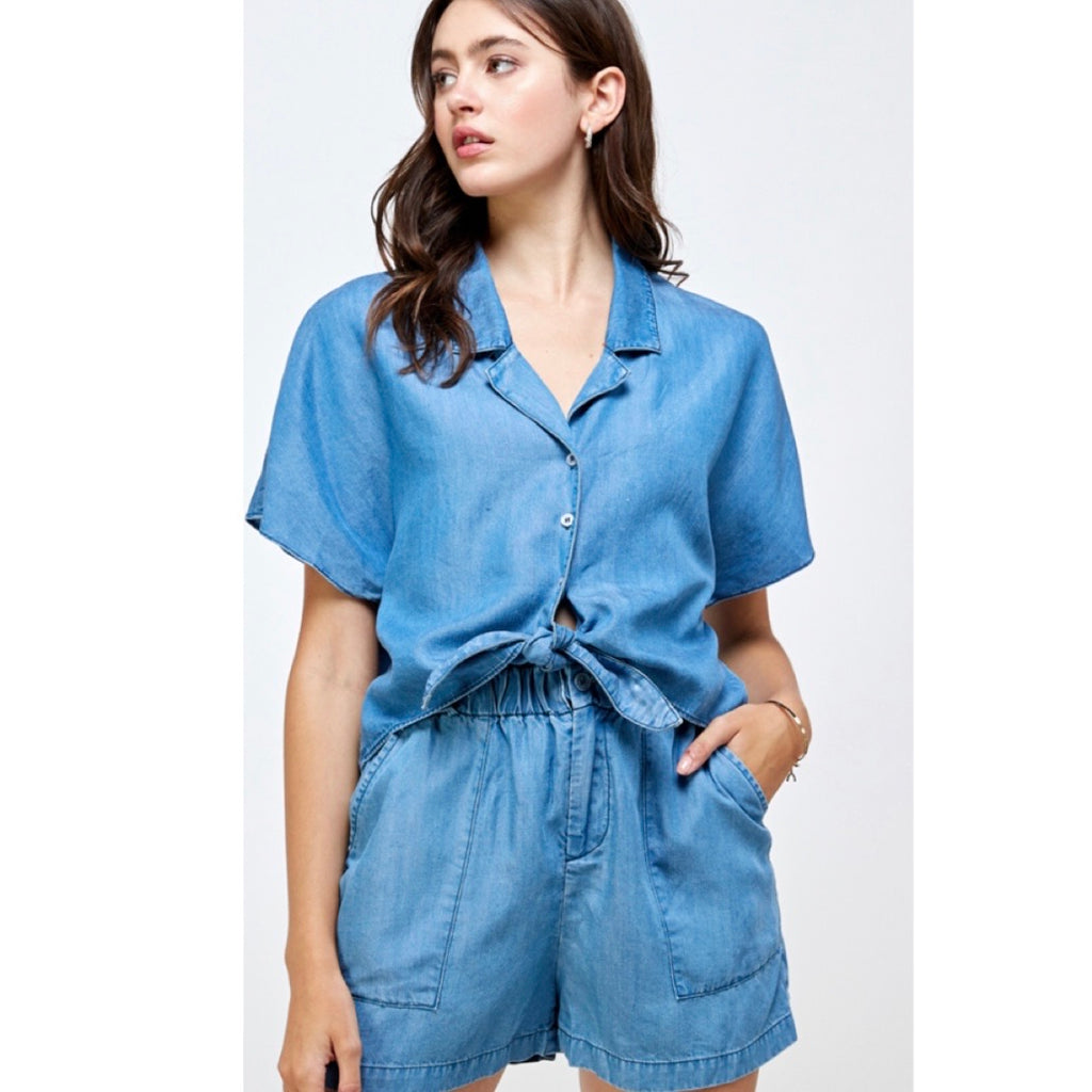 Denim Short Set