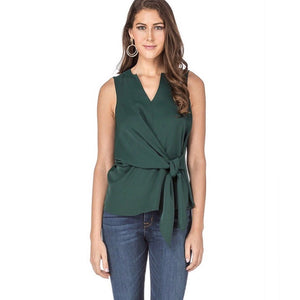 Emerald Green Tie  Blouse