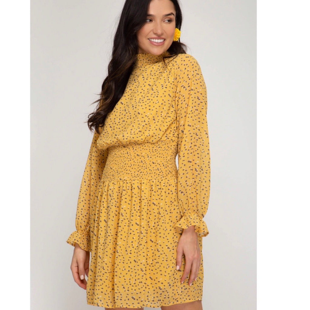 Yellow mock dress