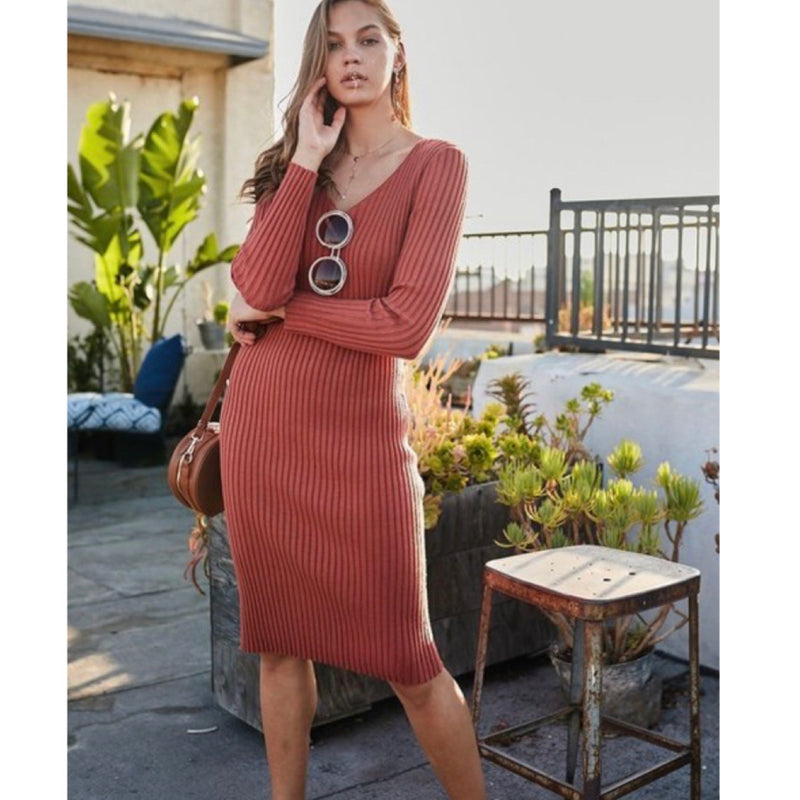 Brick Body Con Dress