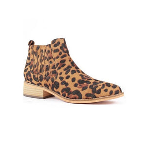 Camel Leopard Boot