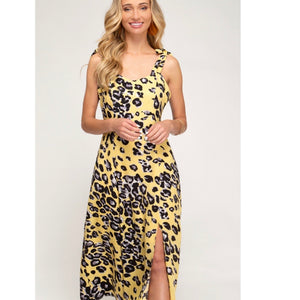 Yellow Animal Print Dress