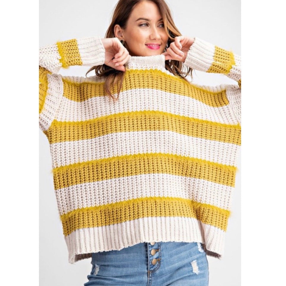 Mustard stripe sweater
