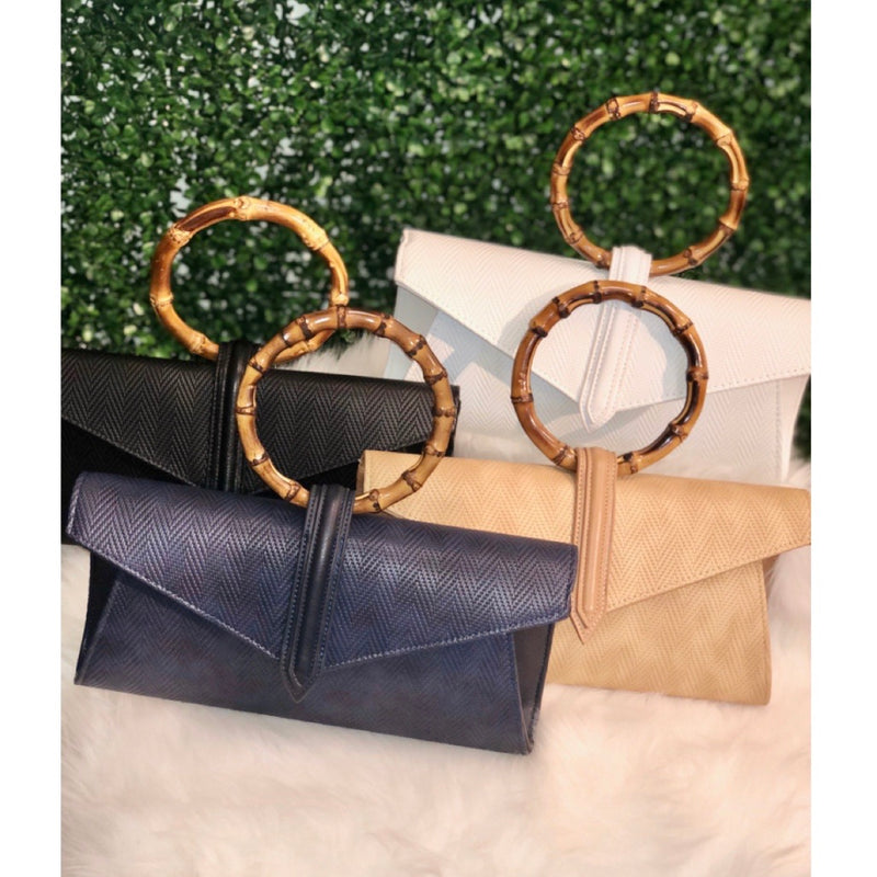 Bamboo Handle Clutches