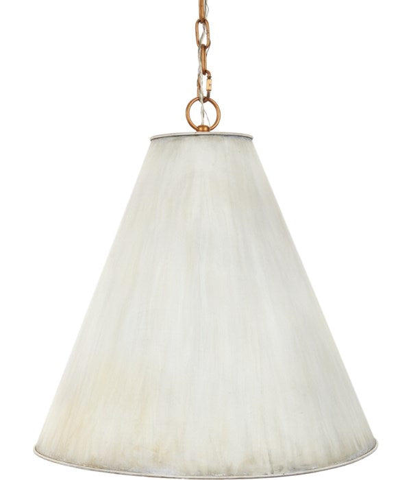 NICOLE CREAM METAL SHADE PENDANT WITH GOLD LINING