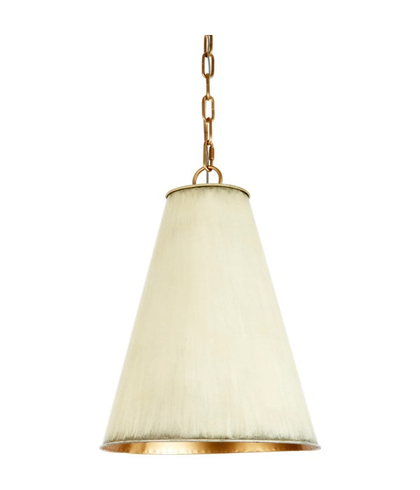 SMALL NICOLE CREAM METAL SHADE PENDANT WITH GOLD LINING