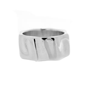 Sterling Silver Gear Form Wave Ring