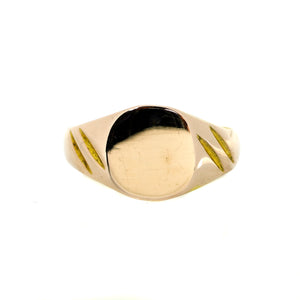 Baby Signet Ring in Yellow Gold