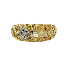 Load image into Gallery viewer, Abstract Cage Dome Ring in 14K Yellow Gold