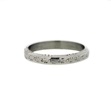 Load image into Gallery viewer, Vintage Platinum Wedding Band