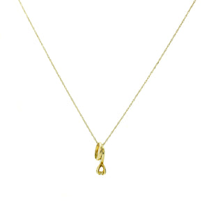 """Taken"" Necklace in 14K Yellow Gold"