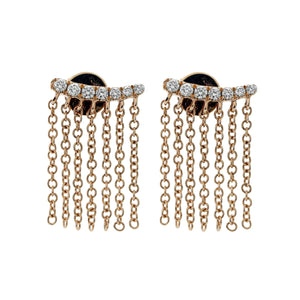 Curved Fringe Mini Earrings