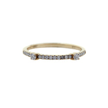Load image into Gallery viewer, Thin Gold Diamond Wedding Band
