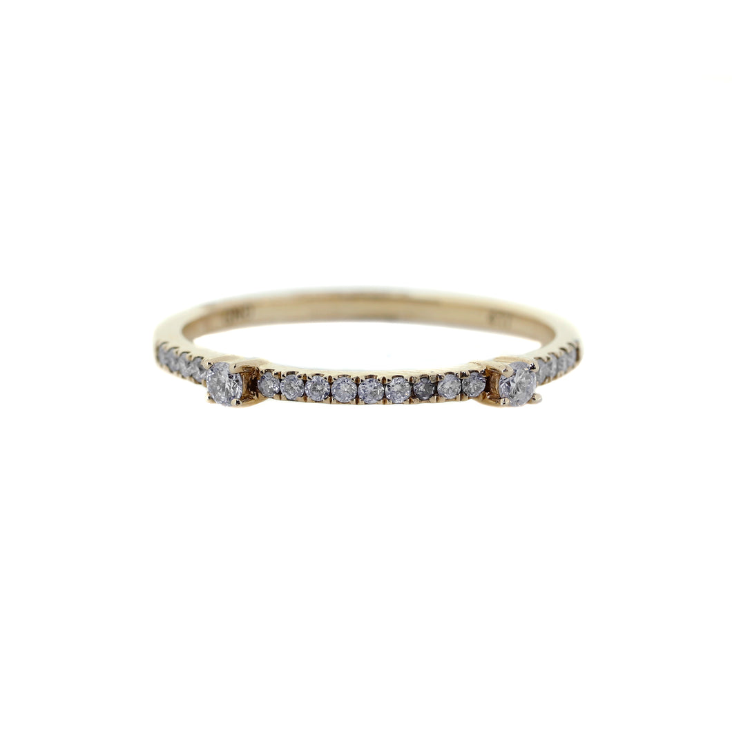 Thin Gold Diamond Wedding Band