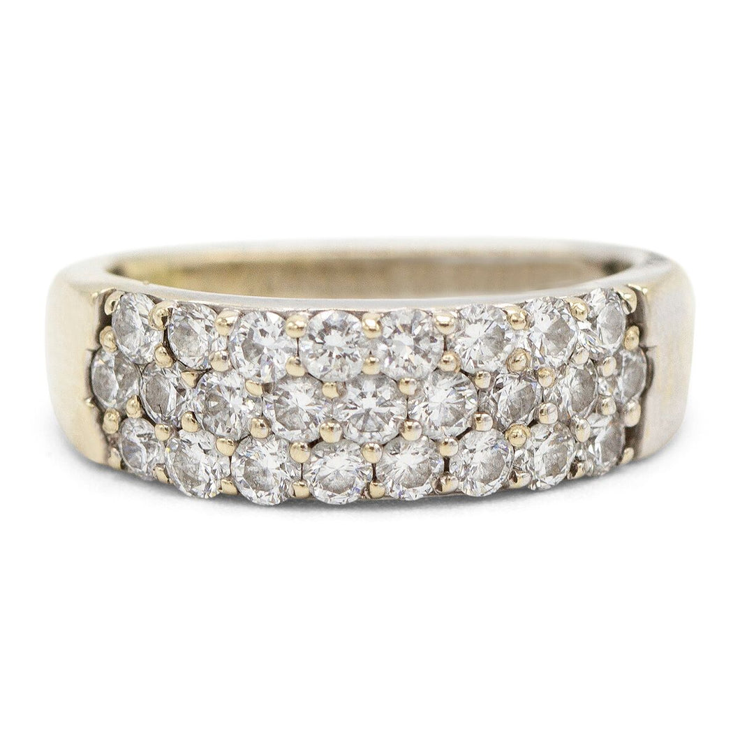 Diamond Pave Wedding Band in 18K Yellow Gold