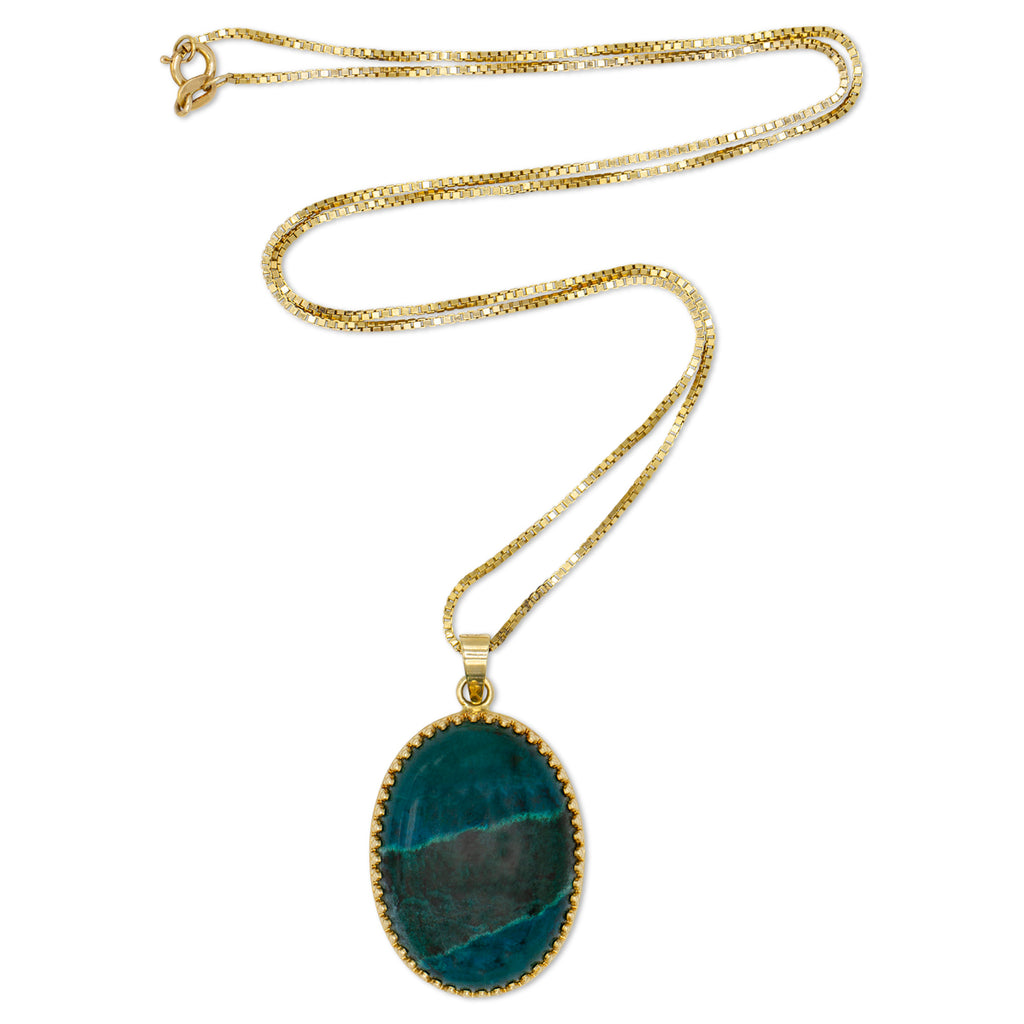 14K Semi-precious Stone Necklace