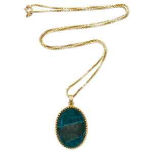 Semi-precious Stone Necklace in 14K Yellow Gold
