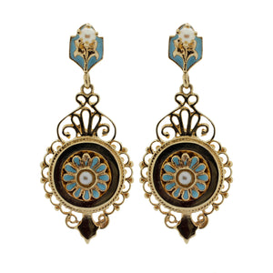 Mini Enamel Chandelier Earrings