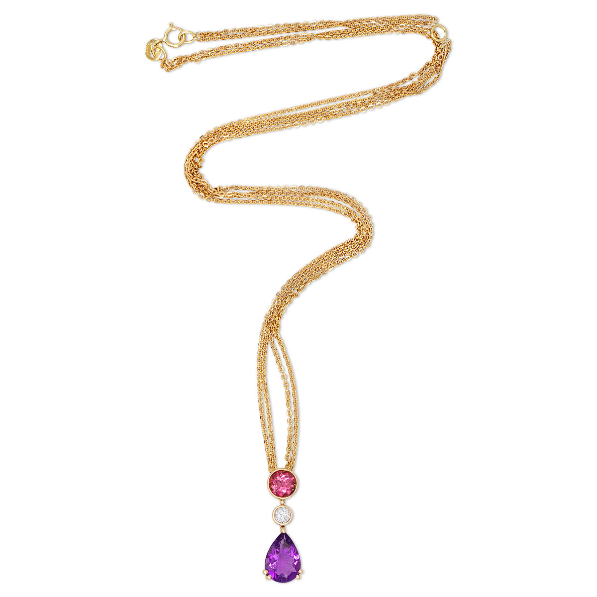 18K Rose Gold & Amethyst Tourmaline Necklace