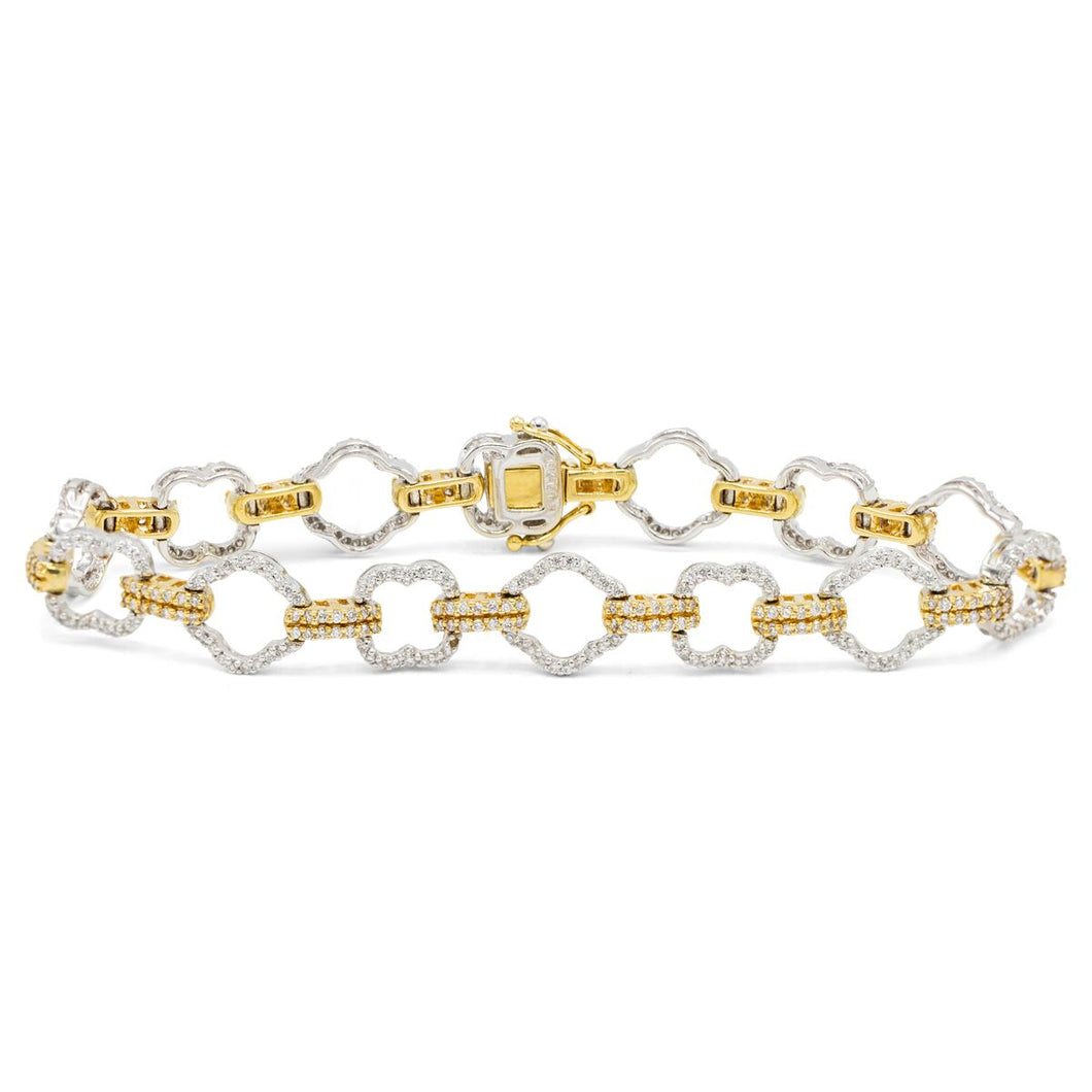 Diamond Rollo-Link Bracelet