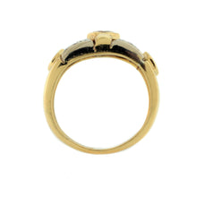 Load image into Gallery viewer, Cocktail Bezel/Pavé Ring in 18K Yellow/White Gold