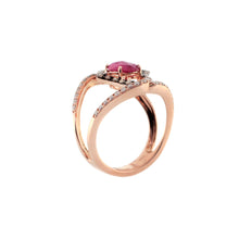 Load image into Gallery viewer, Ornate 14K Rose Gold Ring