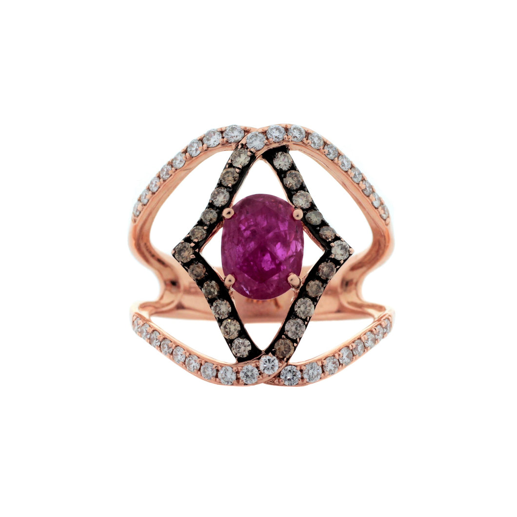 Ornate 14K Rose Gold Ring