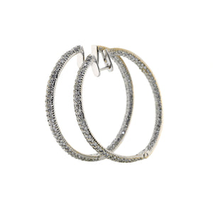 Diamond Pave Hoop Earrings