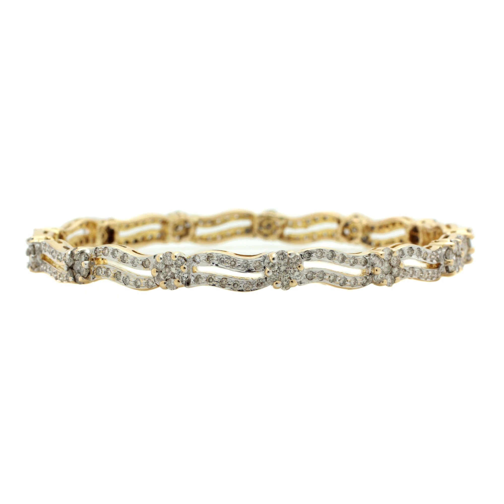 Beach Wave Bangle in 14K Yellow Gold