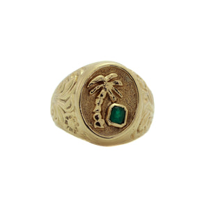 Gents 18K Tropical Ring