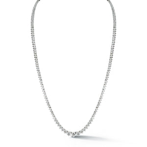 White Gold Eternity Diamond Necklace
