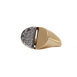Ladies Half Cluster Diamond Ring