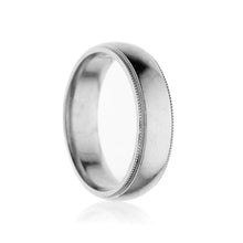Load image into Gallery viewer, Platinum Milgrain Men's Wedding Band Ring