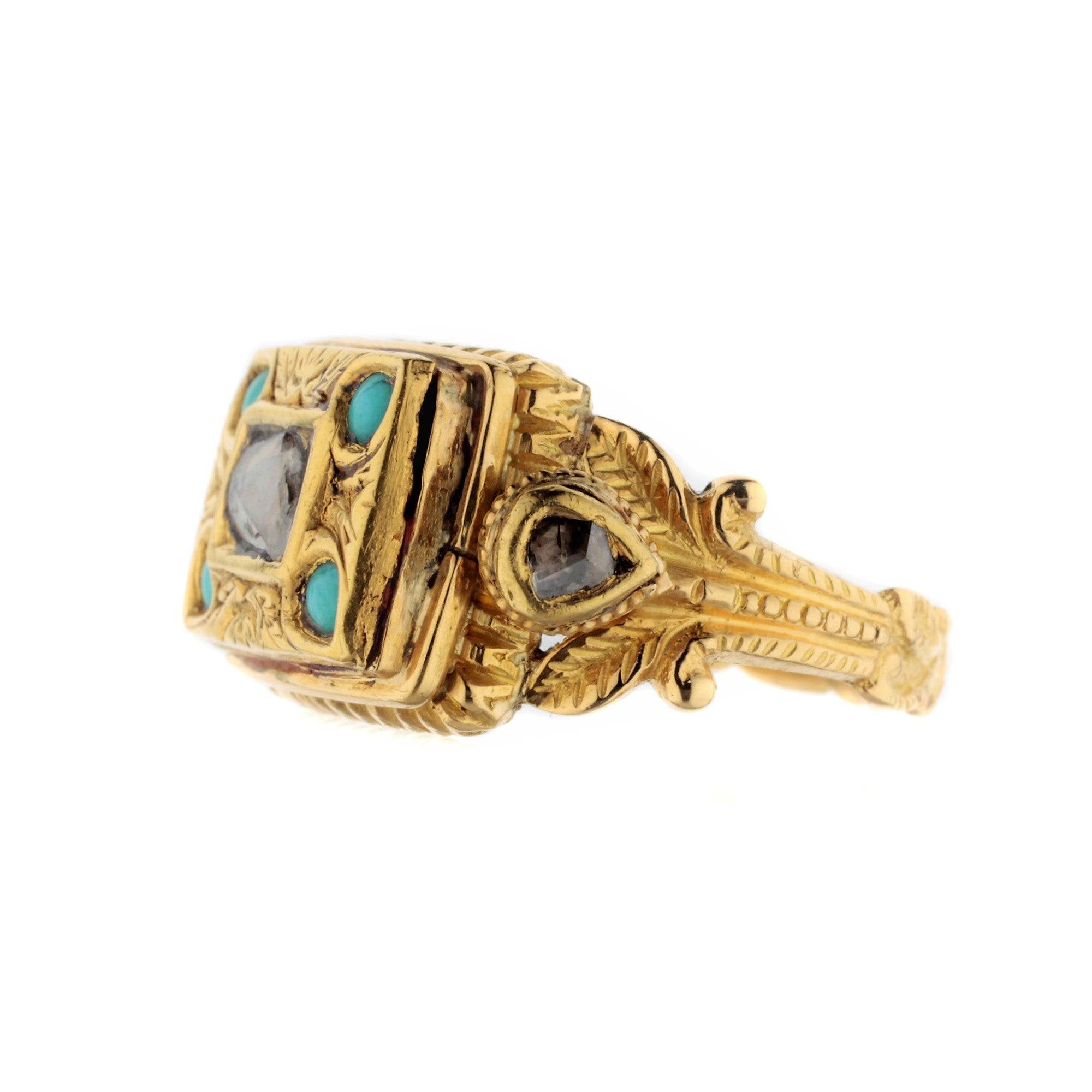 19th Century Antique Poison Ring