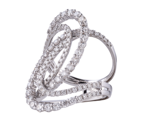"The ""Statement Swirl"" Diamond Ring"
