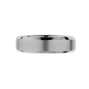 Platinum Men's Wedding Ring with Wired Finish