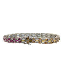 Load image into Gallery viewer, Rainbow Effect Sapphire Bracelet