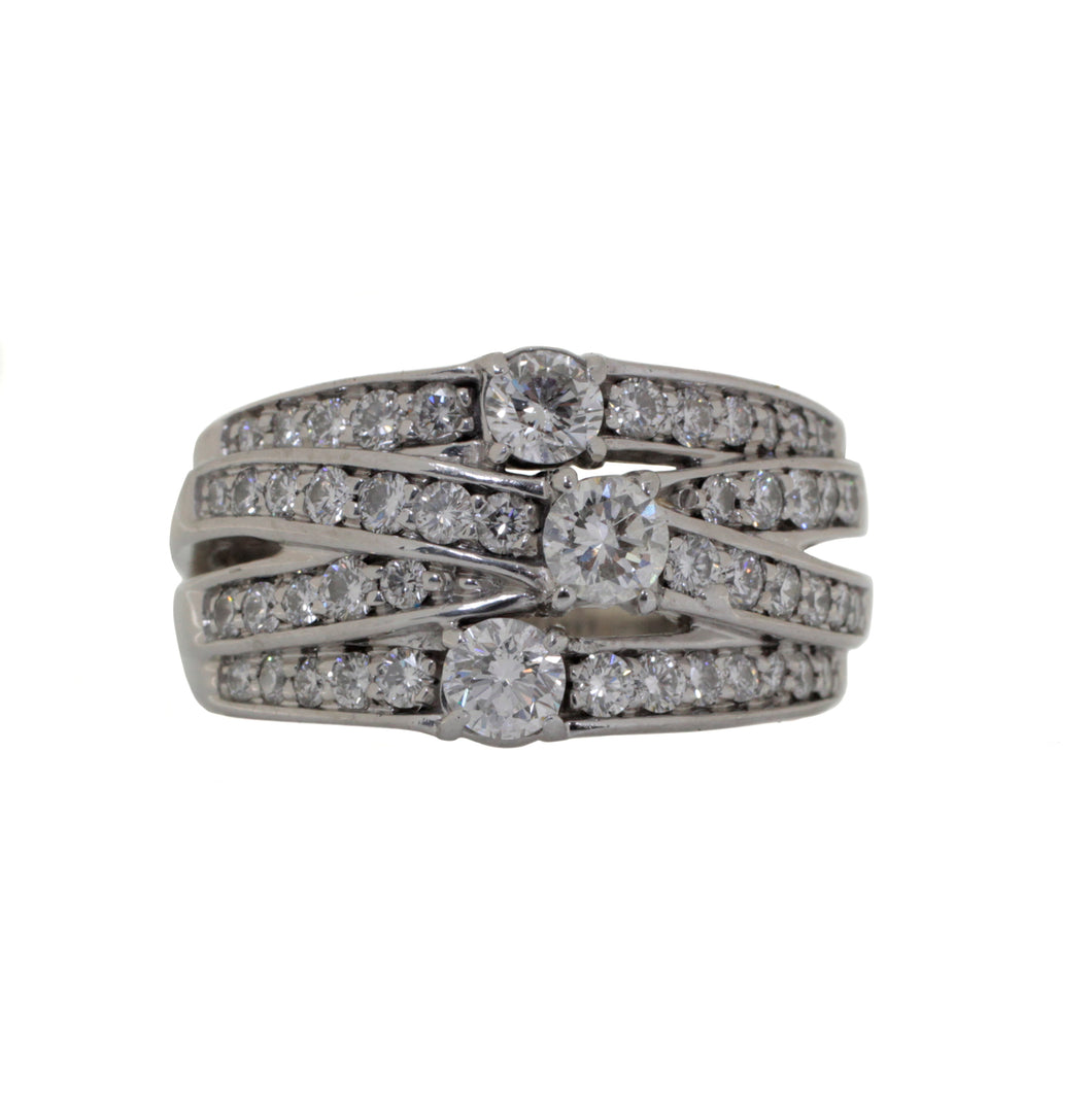 Diamond Cluster Crossover Ring