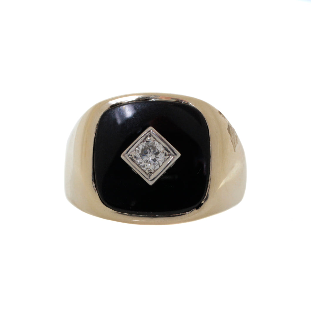 Gents Onyx Diamond Ring
