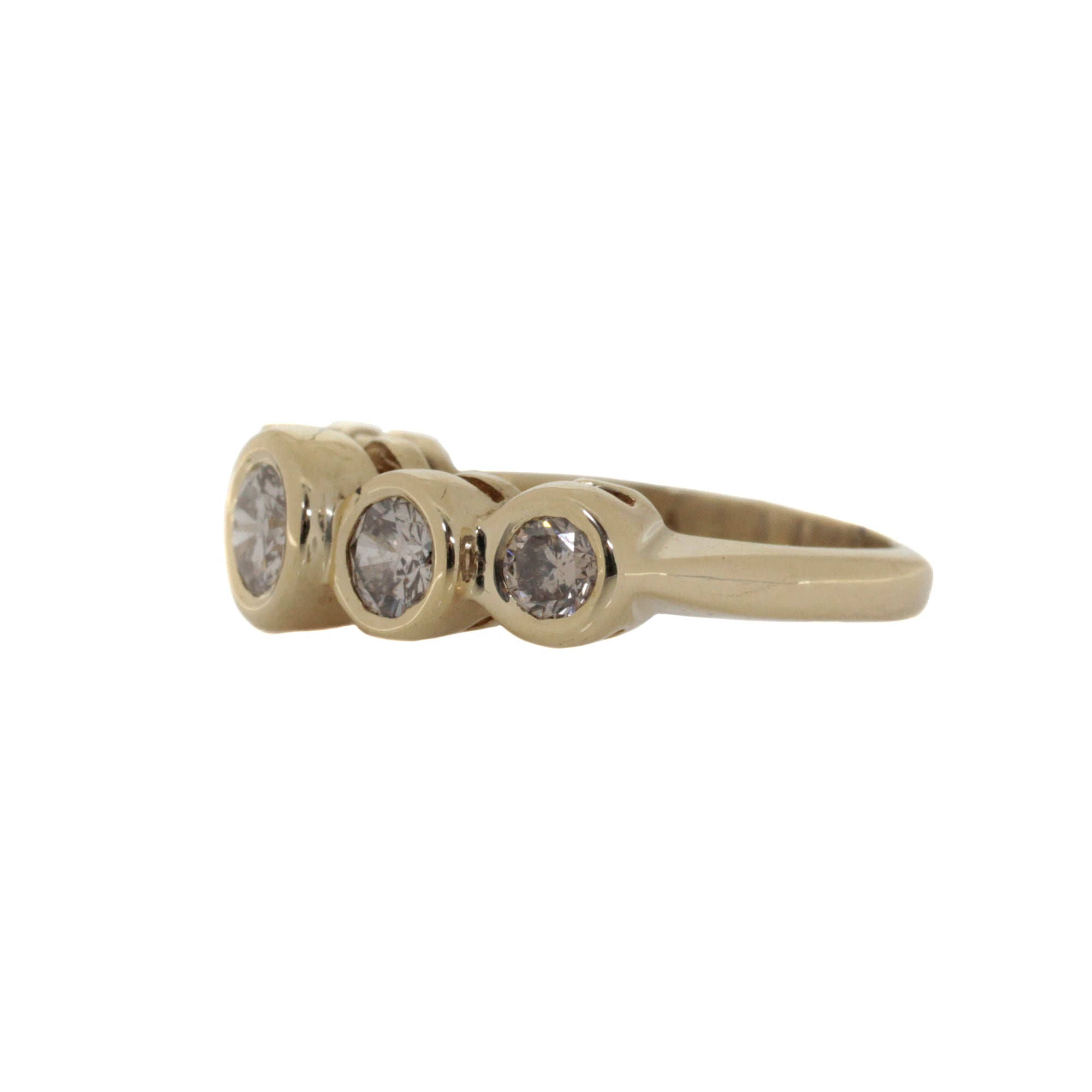 Bezel-Set Diamond Five-Stone Ring