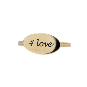 #Love Ring in 10K Gold