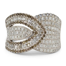 Load image into Gallery viewer, Diamond Pave Buckle Ring