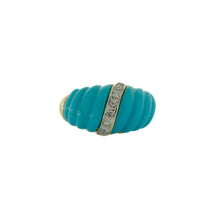 Load image into Gallery viewer, Pretty Blue Enamel Wave Ring