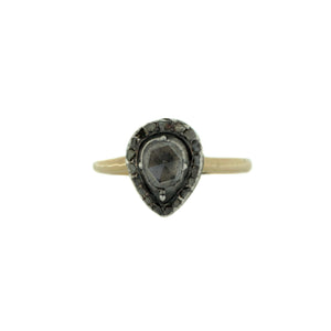 Antique Rose Cut Diamond in 14K Yellow Gold