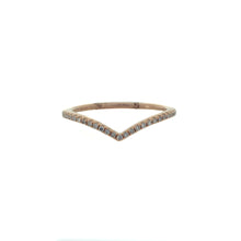Load image into Gallery viewer, Delicate Curved Diamond Band